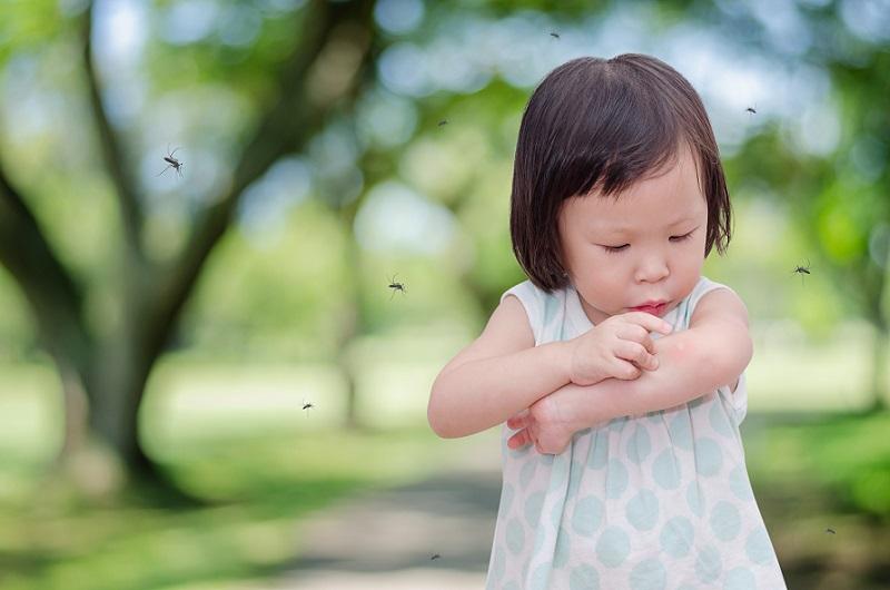 Hat das Mückenschutzmittel nicht geholfen oder war das Kind garnicht eingerieben