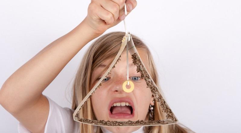 Die Pheromon Mottenfalle kann bei starkem Befall der Küche viele Lebensmittelmotten einfangen.
