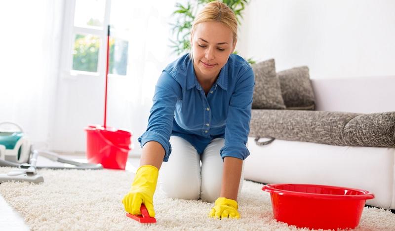 Wenn Flecken auf dem Teppich entstanden sind, eignet sich in der Regel Mineralwasser für die Teppichreinigung. ( Foto: Shutterstock-didesign021 )